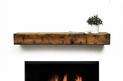 Dogberry Collections Rustic Fireplace Mantel Shelf