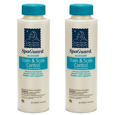 SpaGuard Spa Stain/Scale Control 1 Pint (472 ml) [ 2 Pack Bundle ]