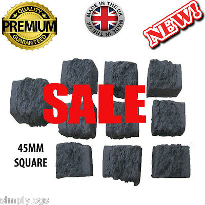 30 Gas Fire Replacement Coals Coal Square Ceramic 45Mm Special Offer New Seller