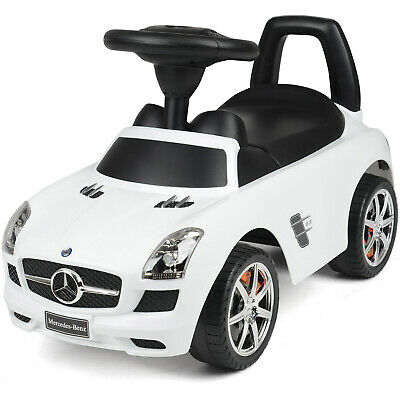 Kids Mercedes Benz Ride On Car Toddler Balance Push Along Walker Toy With Sounds