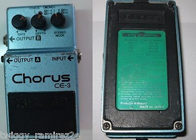 boss ce3 ce-3 vintage chorus pedal green label made in japan ww ship