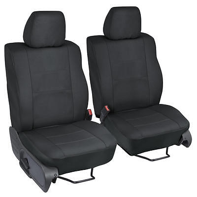 Large Seat Covers for Truck Car SUV Van - Black NeoCloth Polyester Easy Install