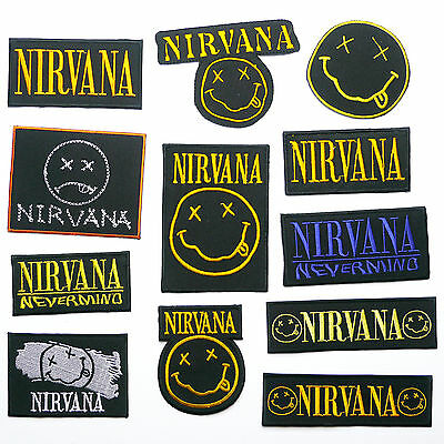 NIRVANA Classic Smiley Embroidered Iron-On Patches Collection - ANY PATCH 99p