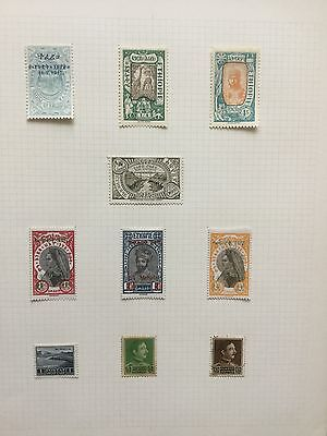 ETHIOPIA Mint Early Stamps Small Collection On 1 Album Page