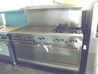 Garland H2843 Four Burner Nat Gas Range French Top Plate Two Full Size Ovens