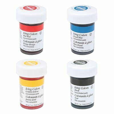 Wilton Icing Paste Gel for Cake Baking Decoration Primary Colours Set of 4