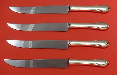 Old Newbury by Towle Sterling Silver Steak Knife Set 4pc Texas Sized Custom