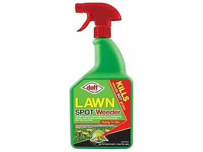 New Doff  Lawn Spot Weedkiller 1Litre RTU Pack Garden Weed Control