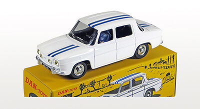 DAN TOYS Renault 8 Gordini Blanc / Bandes Bleues Limited Ed.