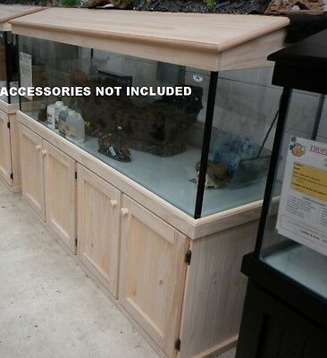 6'x2'x2' Glass Aquarium Fish Tank Cabinet Hood