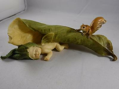 Beautiful Hand Made Painted Baby with Wings Leaves and Squirrel Anne Geddes ?