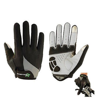 RockBros Full Finger Cycling Bike Gloves Touch Screen Sports Gloves Black S-XL