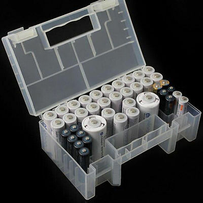 Large Translucent Hard Plastic Case Storage Box Holder for AA AAA C battery New
