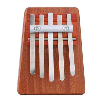 5 Key Mbira Finger Thumb Music Piano Solid Toy for Music Lover and Beginner S3R3