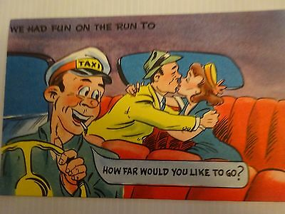Vintage Colourful Humorous Postcard--From The 1950's
