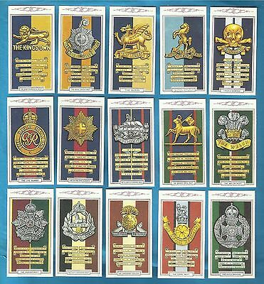 Gallaher cigarette cards - ARMY BADGES - Full mint condition set