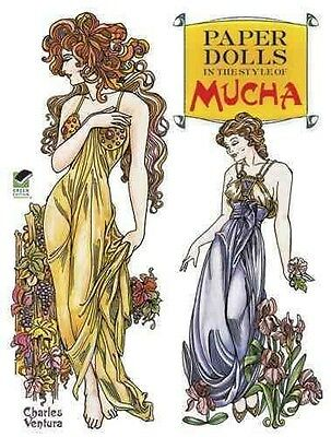 Paper Dolls In The Style Of Mucha - New Paperback Book