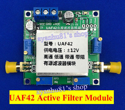 UAF42 Universal Active Filter Adjustable Low Pass / High Pass / Band Pass Filter