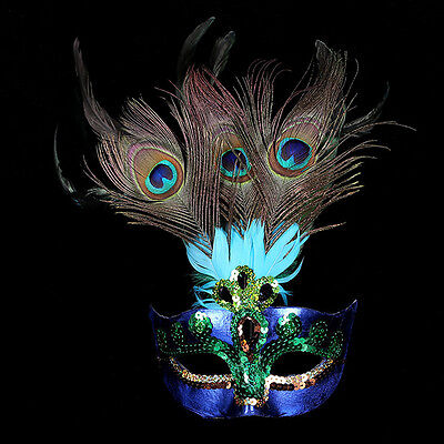 Peacock Feather Fancy Mask Party Ball Masquerade Dress Mask Mardi Gras Cosplay