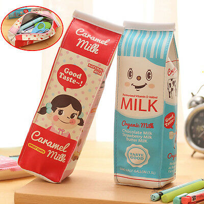 New Simulation Of Milk Cartons Pencil Case Kawaii Stationery Pouch School