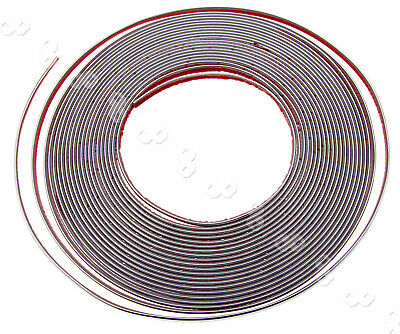 6mm X 15M CHROME STYLING MOULDING TRIM STRIP SELF ADHESIVE - METRE METER WINDOW