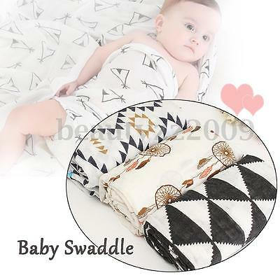 Baby Blankets 100% Soft Cotton Newborn Infant Child Warm Sleeping Swaddle Wrap