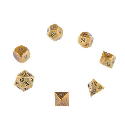 7pcs Multi-sided RPG Game Dices Dungeons&Dragons D4-D20 Board Game Dice #4