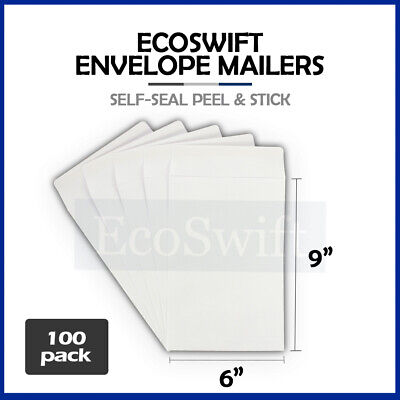 "100 White Self-Seal Catalog Mailing Shipping Kraft Paper Envelope 28 lb. 6"" x 9"""