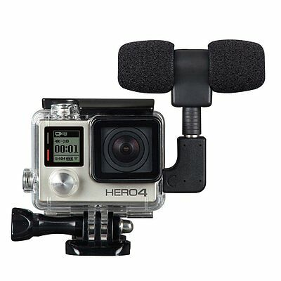 Side Open Skeleton Housing Case & Microphone & Adapter For GoPro Hero 4 3+ 3