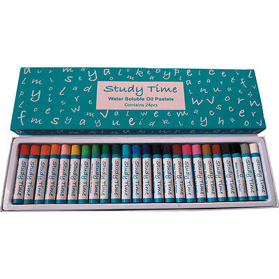 Study Time Jumbo Water Soluble Pastels (Ass. Pack 24)