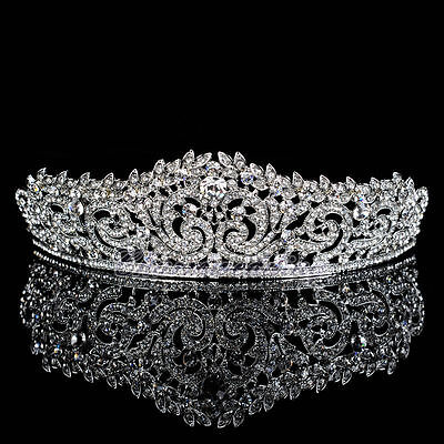Elegant Wedding Crown Bridal Crystal Tiara Floret Diamante Headband Hair Jewelry