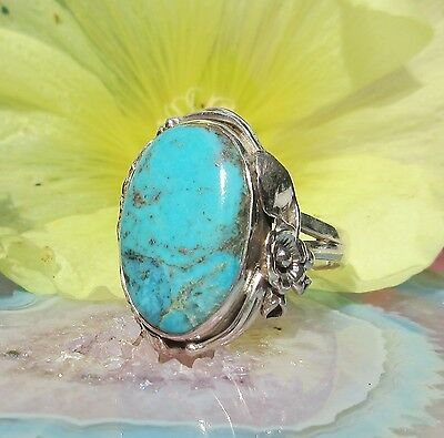 Ring Arizona Türkis hl Stein d Indianer Silber 925 Reproduktion native american