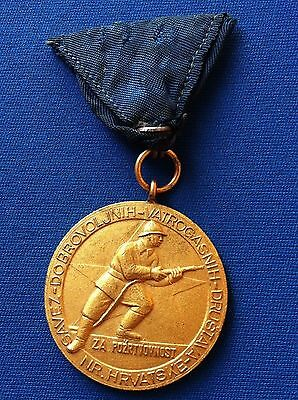 Orden Order Firefighting Medal Fireman's Association Of Croatian - Very Rarre !