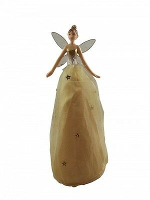 Gisela Graham Gold Christmas Fairy Tree Topper -Delicate collectable Tree topper