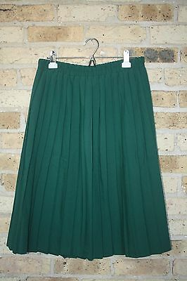 Vintage Full Green Skirt~18W~Pleated~Elastic Waist~Classic Expressions