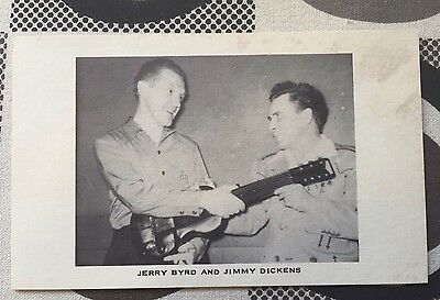 Country Music Jimmy Dickens & Jerry Byrd Postcard