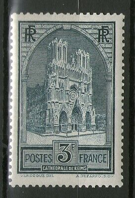 Timbre Yt N° 259 Neuf * * - Cathedrale De Reims Type 1 - Gomme Originale Tb