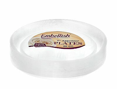 Hard Clear plastic Disposable Party Plates Bowls 20 Pack wedding celebrations