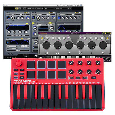 AKAI MPK Mini MK2 Limited Edition Red Black 25 Key USB MIDI Keyboard Controller