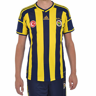 adidas Performance Mens Fenerbahce FC 2014 Home Football Jersey Shirt Top