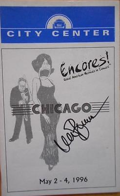 Michael Berresse (Only) Signed Playbill Chicago CityCenter Encores Bebe Neuwirth