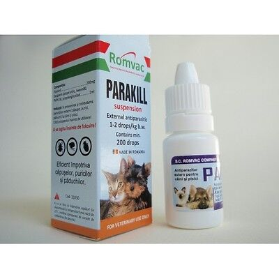 200 Drops Parakill for dogs and cats Flea Tick Spot on, Protection,Treatment