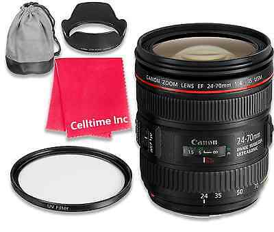 Canon EF 24-70mm f/4L IS USM Lens + UV Filter + Cleaning Cloth