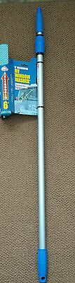 "Mallory 6' Telescoping Window Washer Cleaning Squeegee w 10"" Wide Head"