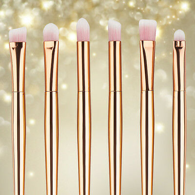 Pro 6pcs Makeup Brush Set Powder Foundation Eyeshadow Eyeliner Lip Brushes Tool