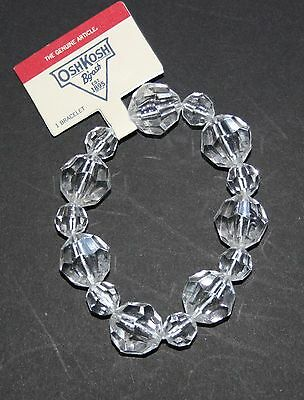 New Oshkosh Clear Faceted Bead Stretch Bracelet NWT Jewelry Accessory