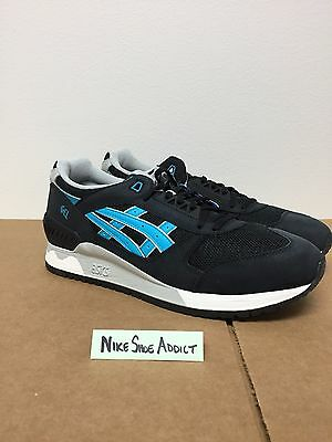 Asics Gel Respector Black Atomic Blue White HL505-9038 Lyte v iii tiger  running f99a85f01