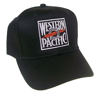 Western Pacific Railroad Embroidered Cap Hat #40-0024