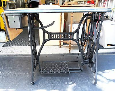 Antique refurbished Wrought Iron Singer Sewing Machine Table