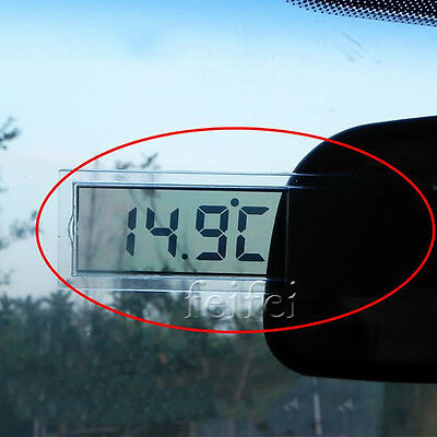 LCD Digital LCD Thermometer Temperature Meter Home Indoor Outdoor Suction Cup